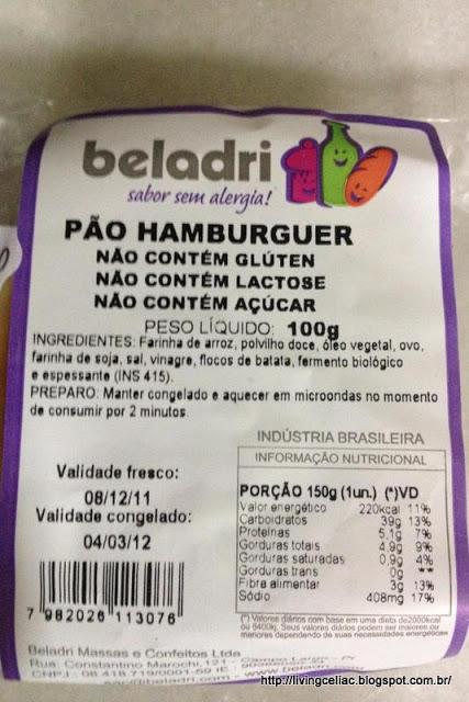 P 227 O De Hamburguer Beladri Living Celiac Amp Gluten Free